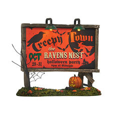 SVH Halloween Creepy Town Lit Billboard Snow Village Dept 56 Accessory 4038908
