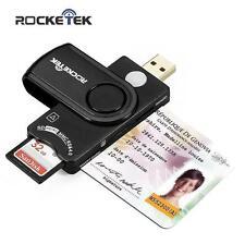 Smart Memory Card Reader Rocketek DOD Military USB Common Access CAC Smart Card