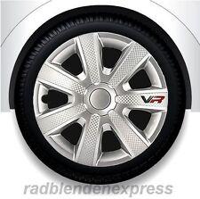 Radblenden, Radkappen VR silber / carbon-look Racing Design 13Zoll