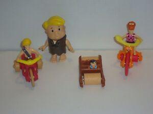 FS2 McDonald's 4 Diff. Flintstones Happy Meal Toys