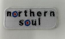 Iron On/ Sew On Embroidered Patch Badge Northern Soul NS Music Rectangle Bar MOD