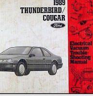 1989 Ford Thunderbird & Mercury Cougar Service Shop Repair Workshop Manual Set
