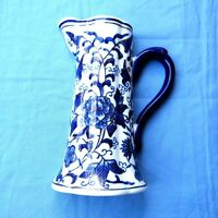 Chinese Blue and White Porcelain Wall Pocket Pitcher Vase 8""