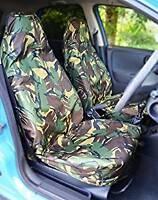 MITSUBISHI L200 PICKUP Heavy Duty Waterproof Seat Covers Protectors Green Camo