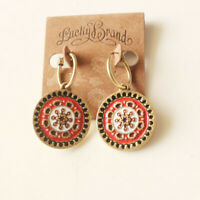 New Lucky Brand Floral Round Drop Dangle Earrings Gift Vintage Women Jewelry FS