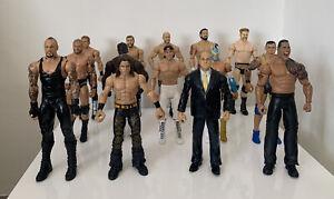 WWE Wrestling Figures Mattel Bundle 14 Figure Job Lot