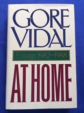 AT HOME. ESSAYS 1982-1988 - FIRST EDITION SIGNED BY GORE VIDAL