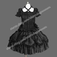 Southern Belle Romantic Gothic Lolita Punk Victorian Reenactment Black Dress New