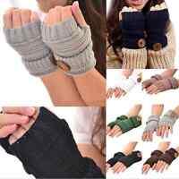 Newly Women Winter Wrist Arm Hand Warmer Knitted Long Fingerless Gloves Mittens