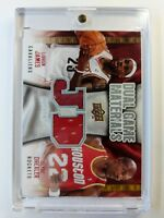 LeBron James & Clyde Drexler 2009-10 Dual Game Materials #DG-JD Game Used Jersey