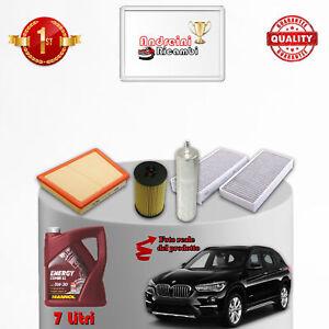 KIT TAGLIANDO FILTRI + OLIO BMW X1 F48 20D 140KW 190CV DAL 2015 ->