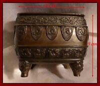 Japon Ancien Brûle-Parfum en bronze orné de Profils d'Animaux Ère Meiji XIXe