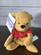 Authentic Disney Store Mini Bean Bag Winnie the Pooh 8 Inch Original Tags