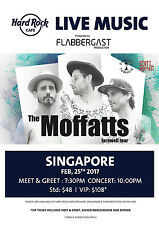 "THE MOFFATTS ""FAREWELL TOUR"" 2017 SINGAPORE CONCERT POSTER - Pop /Alt Rock Music"