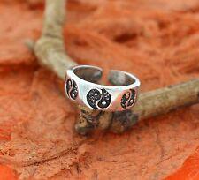 Yin-Yang Adjustable Toe Ring-Sterling Silver-Knuckle,Toe,Women& #039;s,Cute,Summer,New