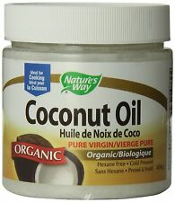 Jars Nature's Way-Organic Coconut Oil Extra Virgin-16 oz (454 Grams)