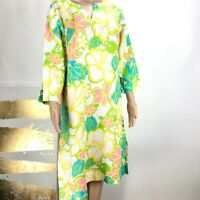 Lilly Pulitzer Tunic Dress 100% Linen Floral Tropical Print Size Medium