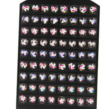 36Pair Multicolor Unicorn Resin Cabochon Earrings Stud For Women Girl Wholesale