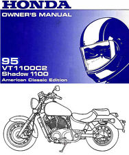 1995 HONDA VT1100C2 SHADOW 1100 MOTORCYCLE OWNERS MANUAL -SHADOW ACE-VT1100 C 2