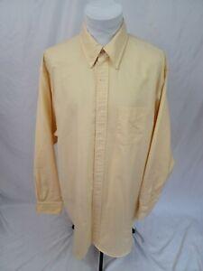 BROOKS BROTHERS PURPLE LABEL Yellow OCBD Oxford Dress Shirt 19 x 36 EUC Made USA