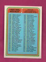 1984-85 OPC # 395 UNMARKED  CHECKLIST  NRMT+  CARD (INV# A4338)