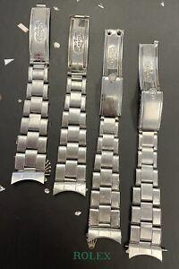 Rolex Vintage Mens Oyster Rivet 7205 19mm Steel Band 57 Ends (LOT) Ref:1500 6694