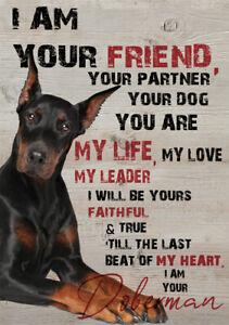 METAL DOBERMAN DOG SIGN DOG PRINT DOG METAL SIGN XMAS BIRTHDAY GIFT DOG POSTER