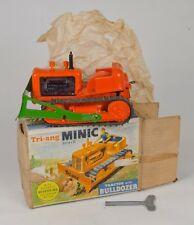 Tri-ang Minic Series II Tractor & Bulldozer. Orange. BOXED. RARE 1960's