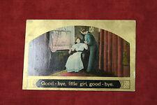 Good-Bye Little Girl Good-Bye Postcard - Guy in Navy Uniform (1908)