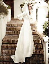 Elegant Wedding Jackets Bridal Cape Cloak Hooded Shawls Wraps Coats Long Sleeves