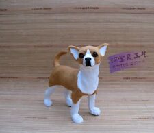 simulation standing dog model resin&fur chihuahua doll gift about 22x9x21cm