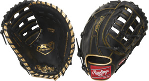"Rawlings R9FM18BG 12.5"" R9 Gold Glove Baseball First Base Mitt Youth"
