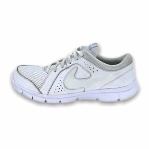 Nike Youth Flex Experience GS Trainers Sneakers Shoes White Leather 631495100 7Y
