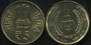 India. 5 Rupees. 2010 (KM#403.1. Unc) Controller and auditor general of India