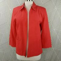 Coldwater Creek Silk linen blend Lightweight Jacket Blazer Womens Size Medium