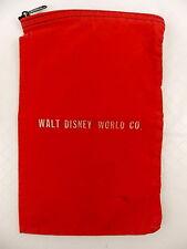 WDW Walt Disney World Red Canvas Money Bag Pouch Zipper Top Cast Item #2997