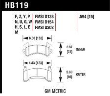 Hawk Performance HB119M.594 Low To Intermediate Torque Disc Brake Pads