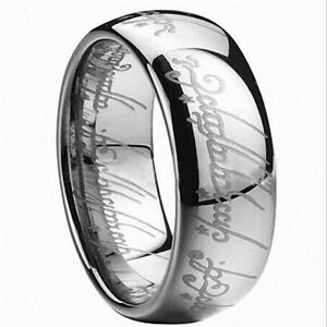 Charm Ring Lotr Stainless Steel Fashion Mens Ring Size 6-12 Lord of the Rings