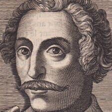 Portrait XVIIe Thomas Cavendish Candish Explorateur Le Navigateur Corsaire