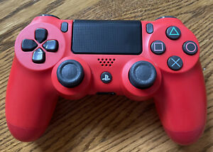 Sony Playstation 4 PS4 DualShock Wireless Controller [Magma Red] Tested. Good