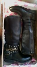 Matisse Boone Women  Round Toe Leather Black Mid Calf Boot Size 6M