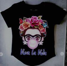 VIVA LA VIDA Frida Bubblegum Cartoon T-Shirt (black)