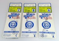 Three 1984 World Series Ticket Stubs - Detroit Tigers vs San Diego Padres