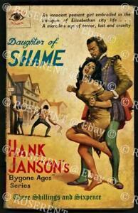 """1963 Hank Janson paperback """"Daughter of Shame """" historical sexploitation novel"""