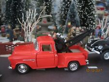"TRAIN GARDEN HOUSE VILLAGE "" 1955 ORANGE CHEVY TOW PICK-UP "" +DEPT 56/LEMAX info"