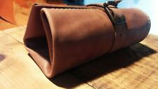 Leather Watch Roll Leather Box Case storage Travel pouch Designs Brown roll