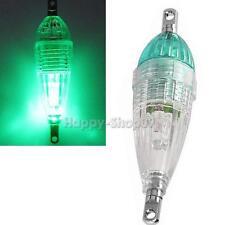 Mini LED Deep Drop Underwater Fishing Squid Fish Lure Light Green  v#h9