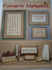 Country Alphabet Sampler Cross Stitch Pattern Book Leisure Arts Leaflet 344 1985