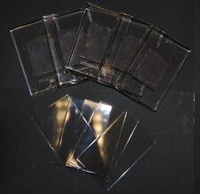 100 Blank Clear Plastic Acrylic Fridge Magnets 70x45mm Insert L4