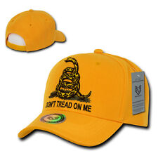 "Gold Gadsden Flag ""Dont Tread On Me"" Snake Tea Party Baseball Cap Caps Hat Hats"
